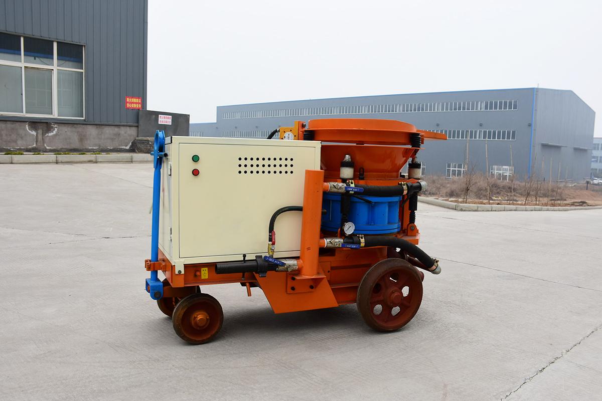 干式喷浆机启停操作与易损件维护方法