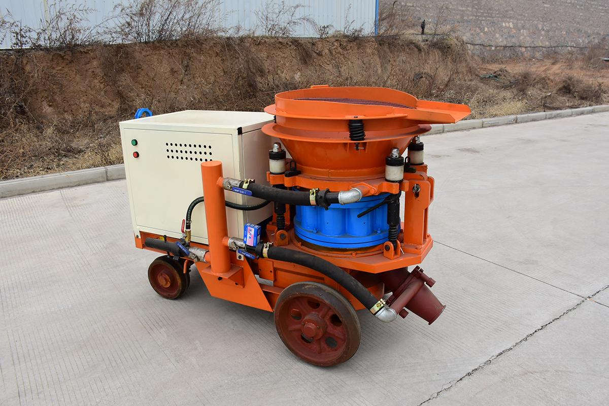 混凝土干喷机是如何作业的?作业流程与参数介绍