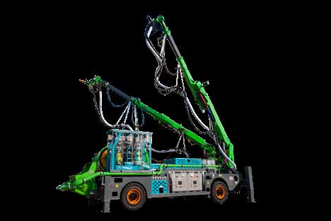 GHP6015G-Ⅱ 双臂混凝土湿喷台车