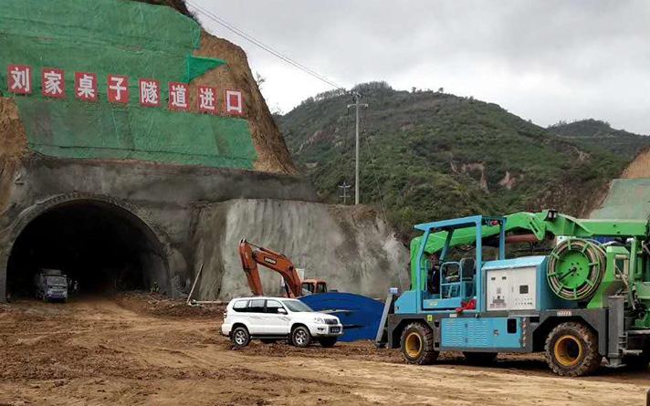 延黄高速项目刘家桌子隧道